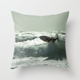 Surf Atlantica  Throw Pillow
