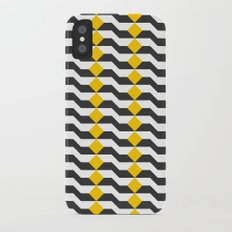 Tricolor Steps Yellow Black & White iPhone X Slim Case