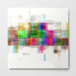 Mosaic Paint Pixels Metal Print