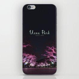 Night view in Ueno Park iPhone Skin