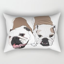 English Bulldogs Rectangular Pillow
