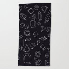doodle crystals Beach Towel