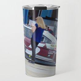 Hey Beautiful...Your Blocking the Car!!!! Travel Mug