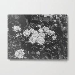 LES FLEURS (B+W) Metal Print