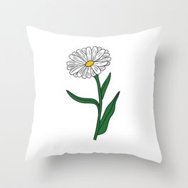 I Love Daisies Throw Pillow