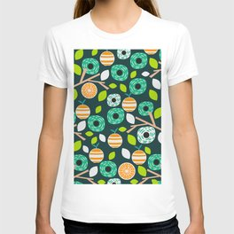 Oranges and flowers T-shirt
