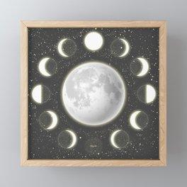 Telescope Dreamy Shine-Phases of the Moon Framed Mini Art Print