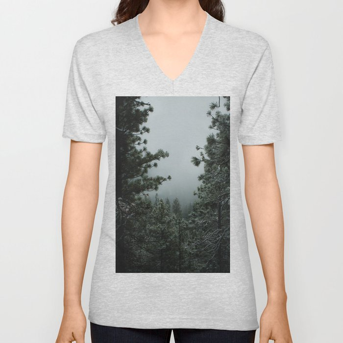 Backwoods Winter: Ponderosa Pines, Washington Unisex V-Neck