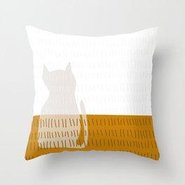 Coit Cat Pattern 3 Throw Pillow