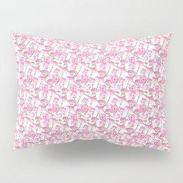 Pink Dogwood Flowers Pillow Sham