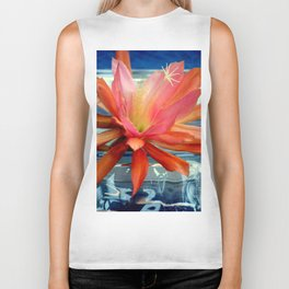 The Water Lily Cactus Biker Tank