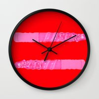 equality Wall Clocks featuring equality by rylesigh