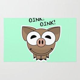 Pig Oink Piggy Pink animal framed poster art mug Rug