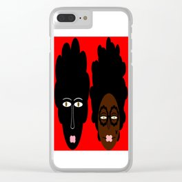 bbnyc's 2 black women Clear iPhone Case