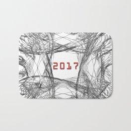 Abstract Swirls 2017 Bath Mat