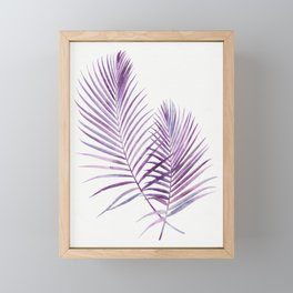 Purple Palms Framed Mini Art Print