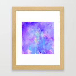 Abstract watercolor colorful painting Framed Art Print