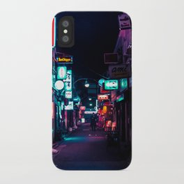 Late Night in Shinjuku's Golden Gai iPhone Case