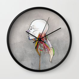 Doctor X, Skull anatomy drawing, NYC Artist Wall Clock