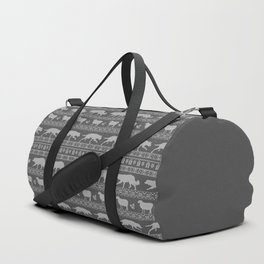 Ugly christmas sweater | Border collie grey Duffle Bag