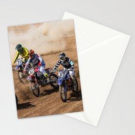 Motocross race Stationery Cards