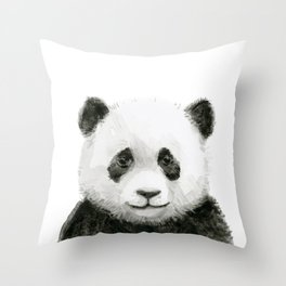Baby Panda Watercolor Cute Baby Animals Throw Pillow