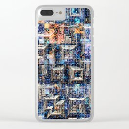Geometric Graphic Collage Clear iPhone Case
