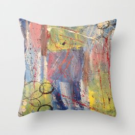 Treasure, original artwork by Stacey Brown Throw Pillow