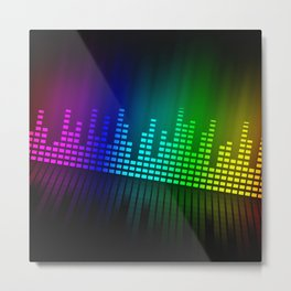 sound mixer equalizer Metal Print