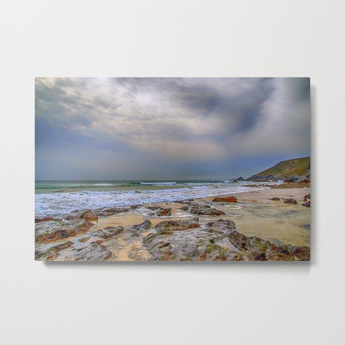 Church Cove Beach Gunwalloe 2 Metal Print