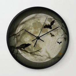 Halloween Scene Wall Clock