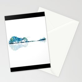 Nature Guitar - Watercolor Blues Stationery Cards