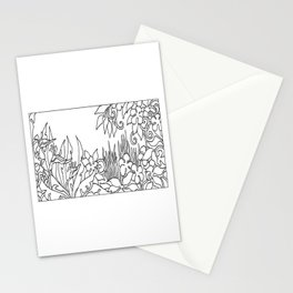 Flowers and Grass Stationery Cards