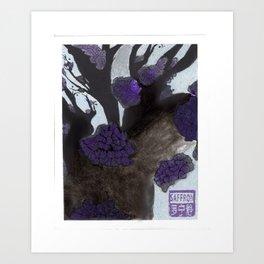 Purple Cherry Blossoms (2 of 3) Art Print