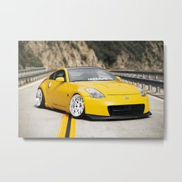Yellow Fever Z Metal Print