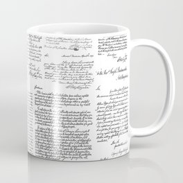 George Washington's Letters // Grey Coffee Mug