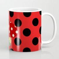 ladybug Mugs featuring ladybug by Alapapaju