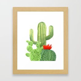 Perfect Cactus Bunch Framed Art Print
