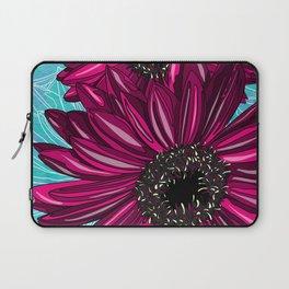 Pink Gerbera on Blue Sorbet Laptop Sleeve