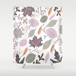 Collage plants Shower Curtain