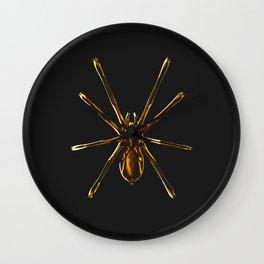 Golden Spider Wall Clock