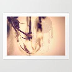 Dreamcatcher Feathers Art Print