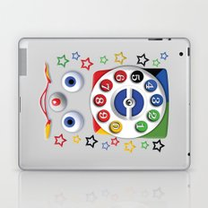 Retro Vintage smiley kids Toys Dial Phone iPhone 4 4s 5 5s 5c, ipod, ipad, pillow case and tshirt Laptop & iPad Skin
