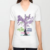 oscar wilde V-neck T-shirts featuring Oscar Wilde #3 I will wait here by bravo la fourmi