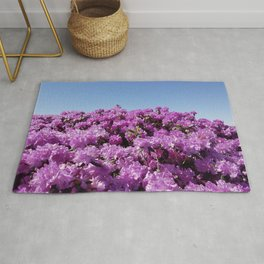 """View of """"Mount Rhodendron"""" on a clear day Rug"""