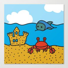 Fish and Crab Canvas Print