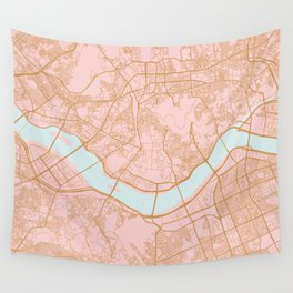 Seoul map Wall Tapestry