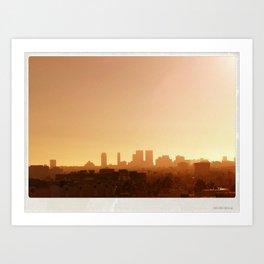 LA City Tetris Art Print