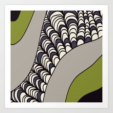 Green Rolled Art Print