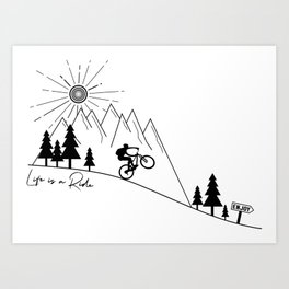 cycling mountain bike mountainbike cyclist bicycle MTB gift Art Print